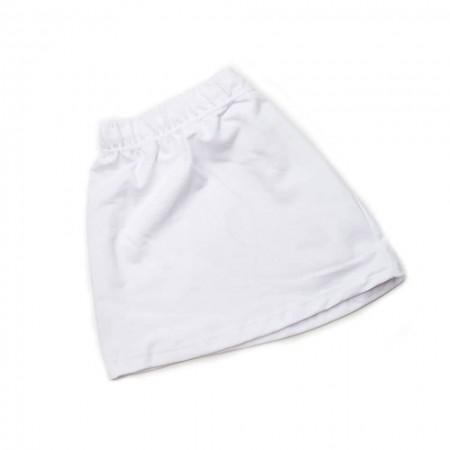 Φούστα παρέλασης  φούτερ λευκή (4-18)