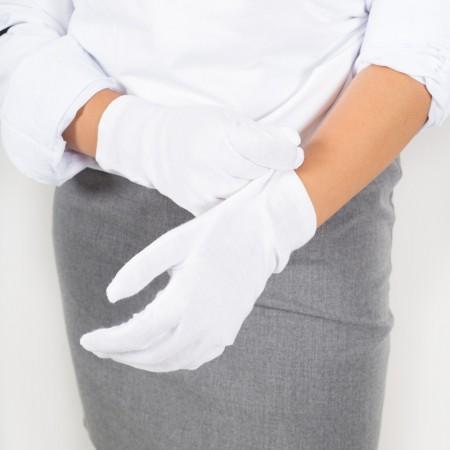 Γάντι λευκό one size