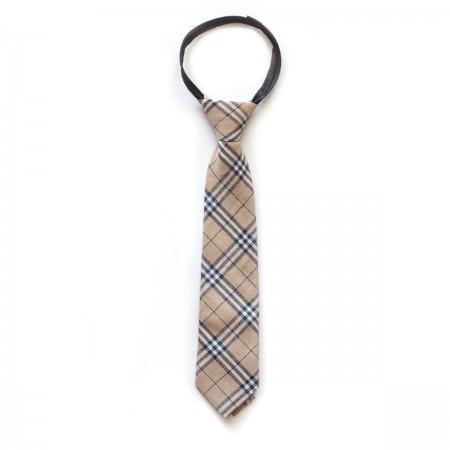 Γραβάτα παρέλασης καρό μπεζ χρώμα