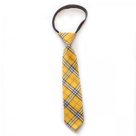 Γραβάτα παρέλασης καρό κίτρινο χρώμα