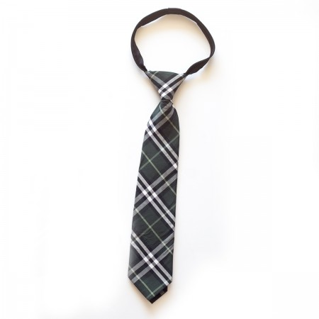 Γραβάτα παρέλασης καρό μαύρο χρώμα