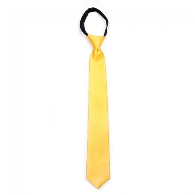 Γραβάτα κίτρινη κλασική παρέλασης (43 cm)