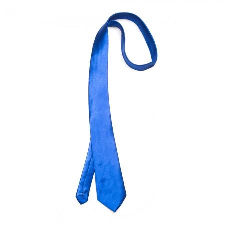 Γραβάτα παρέλασης χρώμα μπλέ ηλεκτρίκ