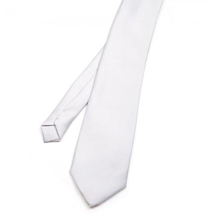 Γραβάτα παρέλασης χωρίς λάστιχο λευκό-γκρί ανοιχτό