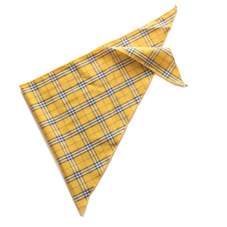 Kαρό τρίγωνο μαντήλι βαμβακερό παρέλασης και σχολικών εκδηλώσεων χρώματος κίτρινο