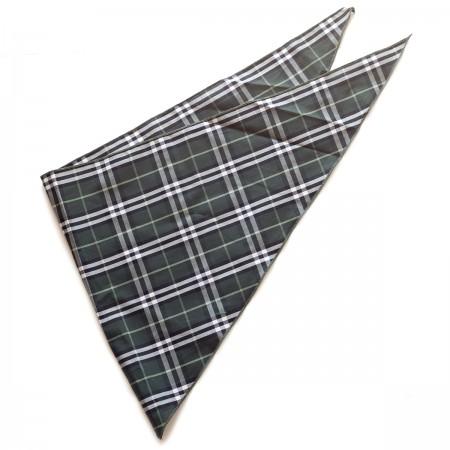 Kαρό τρίγωνο μαντήλι βαμβακερό παρέλασης και σχολικών εκδηλώσεων χρώματος μαύρο