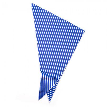 Kλασικό τρίγωνο μαντήλι βαμβακερό παρέλασης και σχολικών εκδηλώσεων χρώματος μπλέ ηλεκτρίκ