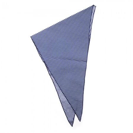 Kλασικό τρίγωνο μαντήλι βαμβακερό παρέλασης και σχολικών εκδηλώσεων χρώματος μπλέ σκούρο