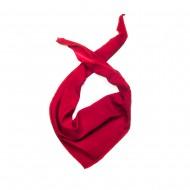 Κλασικό τρίγωνο μαντήλι μουσελίνα, παρέλασης και σχολικών εκδηλώσεων χρώματος κόκκινο σκούρο