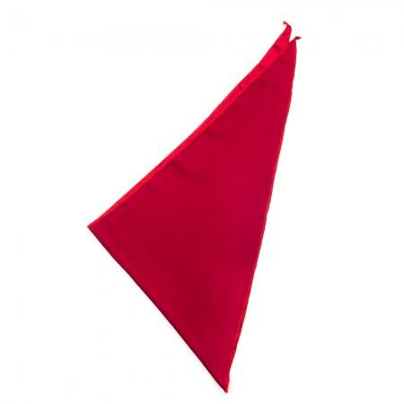 Μουσελίνα τρίγωνο μαντήλι χρώματος κόκκινο σκούρο παρέλασης