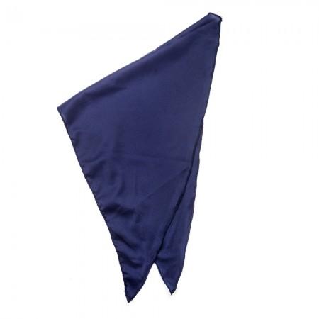 Κλασικό τρίγωνο μαντήλι μουσελίνα, παρέλασης και σχολικών εκδηλώσεων χρώματος μπλέ