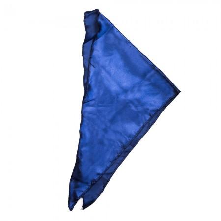 Kλασικό τρίγωνο μαντήλι σατέν παρέλασης και σχολικών εκδηλώσεων χρώματος μπλέ