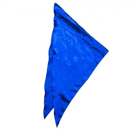 Kλασικό τρίγωνο μαντήλι σατέν παρέλασης και σχολικών εκδηλώσεων χρώματος ραφ