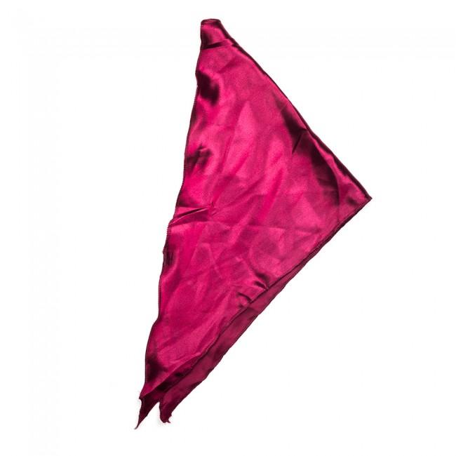 Kλασικό τρίγωνο μαντήλι σατέν παρέλασης και σχολικών εκδηλώσεων χρώματος μπορντό