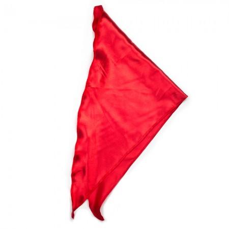 Kλασικό τρίγωνο μαντήλι σατέν παρέλασης και σχολικών εκδηλώσεων χρώματος κόκκινο