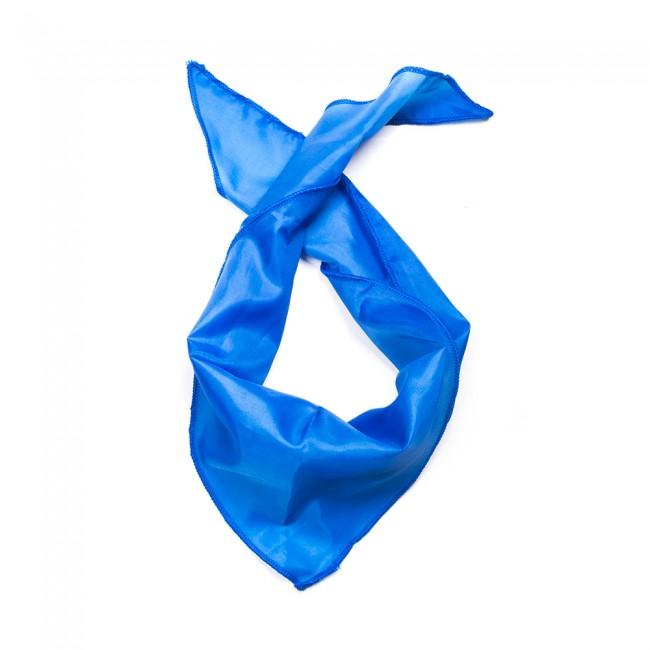 Kλασικό τρίγωνο μαντήλι σατέν παρέλασης και σχολικών εκδηλώσεων χρώματος μπλέ ηλεκτρίκ
