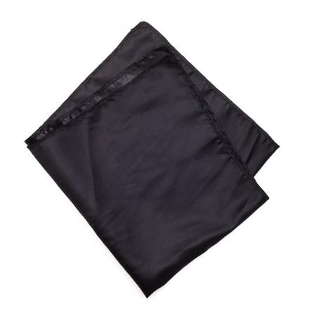 Kλασικό τετράγωνο μαντήλι σατέν παρέλασης και σχολικών εκδηλώσεων χρώματος μαύρο
