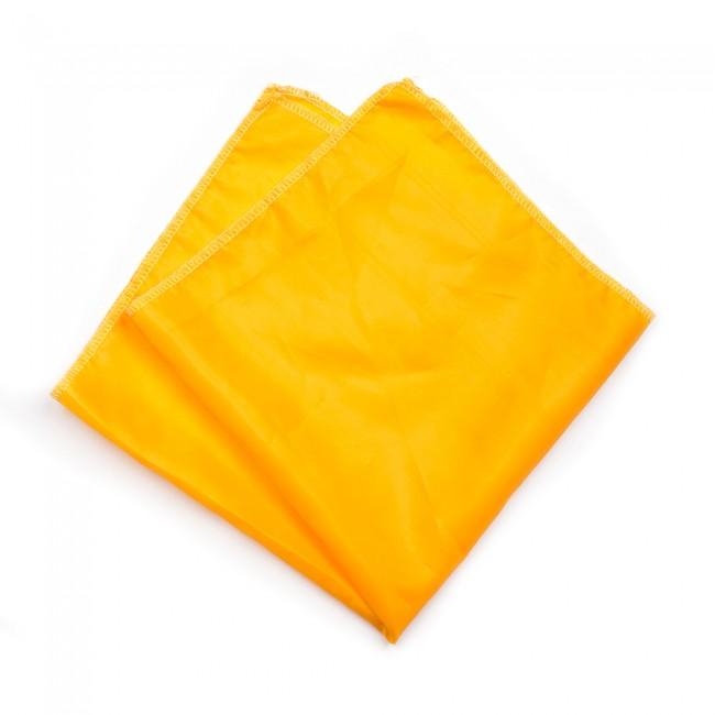 Kλασικό τετράγωνο μαντήλι σατέν παρέλασης και σχολικών εκδηλώσεων χρώματος κίτρινο