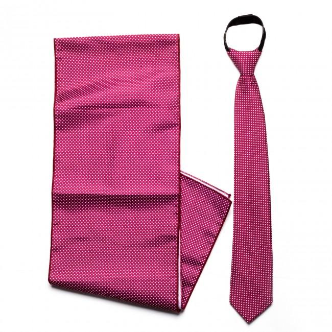 Σετ μαντήλι - γραβάτα πουά