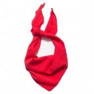 Κλασικό τρίγωνο μαντήλι μουσελίνα, παρέλασης και σχολικών εκδηλώσεων χρώματος κόκκινο