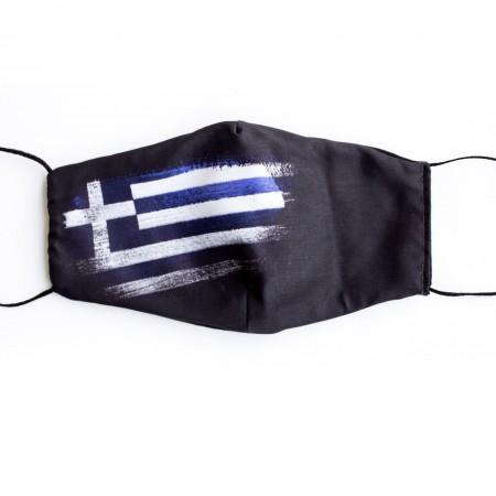 Βαμβακερή μάσκα σχέδιο Ελληνική Σημαία