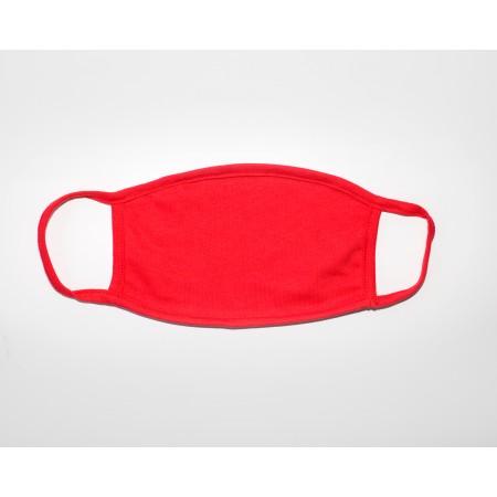 Μάσκα βαμβακερή κόκκινη