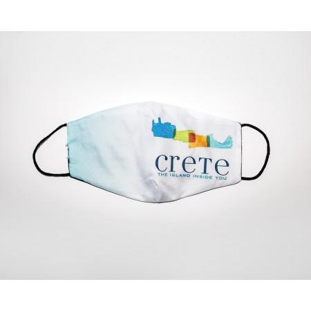 Μάσκα βαμβακερή σχέδιο Κρήτη