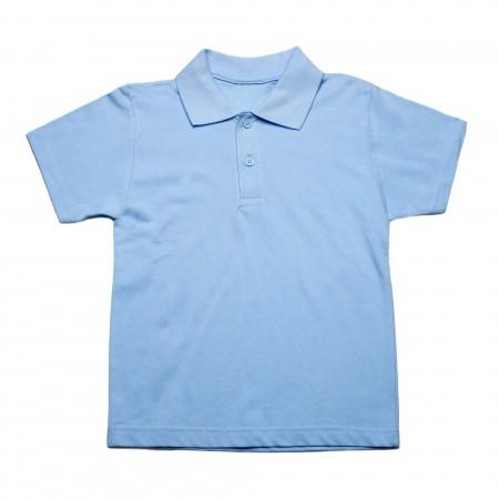 Μπλουζάκι κ/μ πολο σιέλ χρώμα