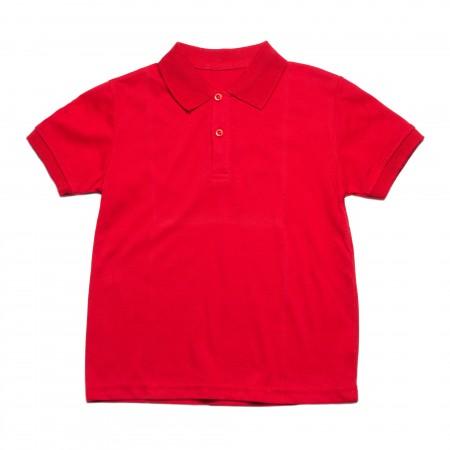 Μπλουζάκι κ/μ πολο κόκκινο χρώμα