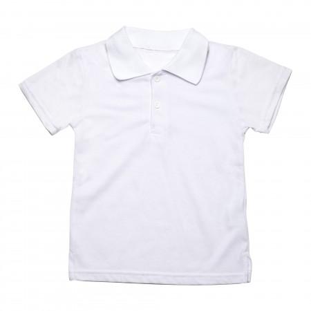 Μπλουζάκι κ/μ πολο λευκό χρώμα