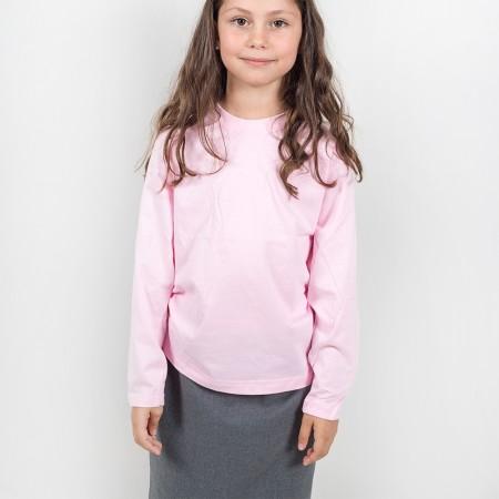 Μπλούζα μακό μ/μ ροζ χρώμα