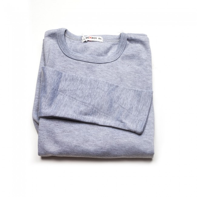 Μπλούζα μακό μ/μ γκρί χρώμα