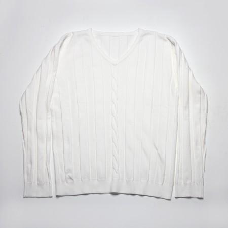 Πουλόβερ βε με χοντρή κοτσίδα λευκό (6-16 ετών)