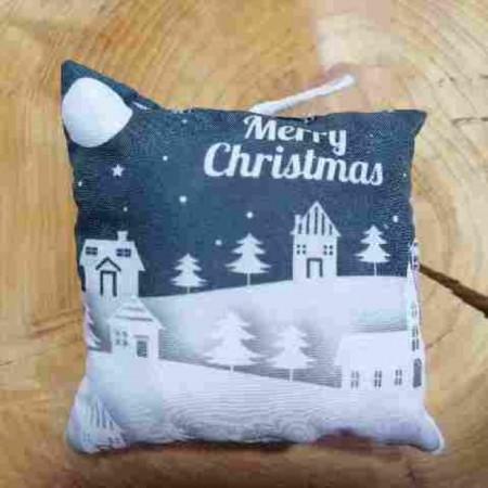 Χριστουγενιάτικο στολίδι μαξιλαράκι - Christmas town