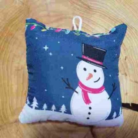 Χριστουγενιάτικο στολίδι μαξιλαράκι - Let it snow
